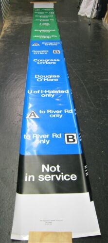 Vintage 1994 Chicago Transit Train Front Destination Roll Sign Jackson Park