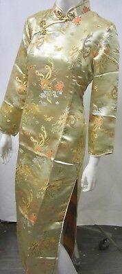 Asiakleider  Qipao Abendkleid  Langarm  Original gold xl  xxl NEU NEU NEU gebraucht kaufen  Lahr
