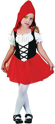 GIRLS LITTLE RED RIDING HOOD TODDLER DRESS FAIRY TALE COSTUME OUTFIT NEW AG 2-3 ](Little Red Riding Hood Halloween Costume Toddler)