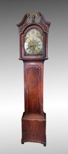 18TH Century Mahogony Longcase Grandfather Clock Edward Stevens Boston Mass.