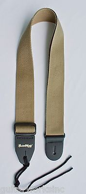 Guitar Strap TAN KHAKI Nylon Fits All Acoustic & Electrics Made In USA Since 78