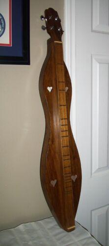 2003 Mc Spadden Walnut Dulcimer in Padded Case & Music Books Home Made From Kit