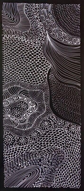 Freda Price Pitjara, Authentic Aboriginal art .Daughter of Anna Price Petyarre.