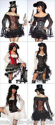 Sexy Piraten Kostüm Fasching Karneval - Sexy Braune Piraten Kostüme