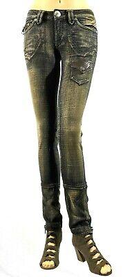New Women's Antik Denim Jeans,Low-rise, Slim Fit, 6-Pocket Size:00-0(23) & 0(24) Low Rise Zipper Pockets