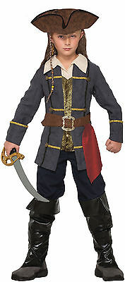 Kids Captain Cutlass Pirate Costume Caribbean Pirate Jack Sparrow Size Md 8-10