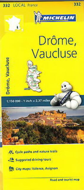 Michelin Map 332 Drome Vaucluse France Local Road and Tourist