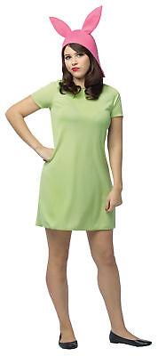 Bob's Burgers Louise Adult Women's Costume Green Tunic Fancy Dress Rasta Imposta