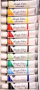 Acrylic Paints Complete Set of 12 Tubes 12ml each -Art Supplies New