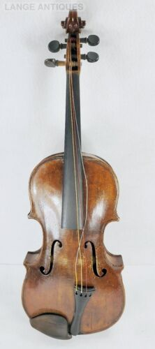 Antique Signed HOPF Violin in Hard Shell Wood Case