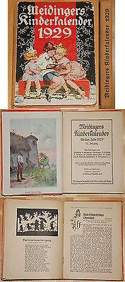 Meidingers Kinderkalender für das Jahr 1929 32. Jg. Kinderbuch Kalendarium xy