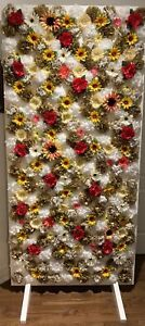 Flower Wall - tissue paper and fake flowers