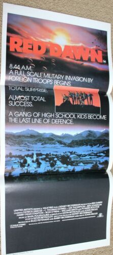 RED DAWN  VINTAGE ORIGINAL Daybill Insert Movie poster DAY BILL