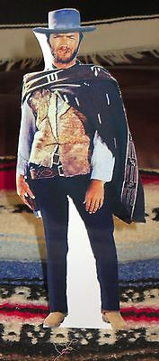 """Clint Eastwood """"Good, Bad & Ugly"""" Western Tabletop Display Standee 9 1/2"""" Tall"""