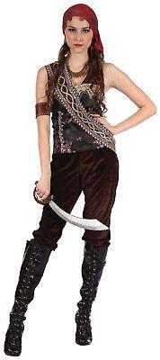 Fancy Dress Pirate Gypsy Lady Costume UK 10-14 Womens Caribbean Ladies Costume - Gypsy Costumes Uk
