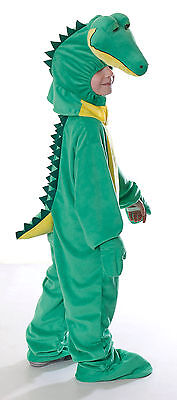 BOYS GIRLS KIDS CROCODILE COSTUME ALLIGATOR DELUXE BIG HEAD NEVERLAND NEW 6-8