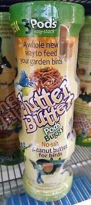 """""""Flutter butter"""" peanut butter for birds.Deluxe Pod feeder +  3x 170g pods"""