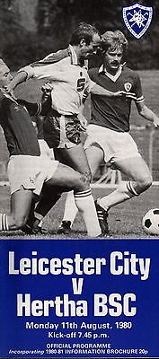 1980/81 Leicester City v Hertha BSC, friendly, PERFECT CONDITION