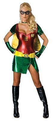 Womans Robin Costume (Robin Adult Girls Womens Deluxe Halloween Costume Small Secret)