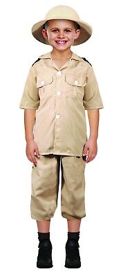 BOYS SAFARI EXPLORER FANCY DRESS COSTUME JUNGLE ZOO KEEPER CHILDS BOOK DAY - Children's Zoo Keeper Costume