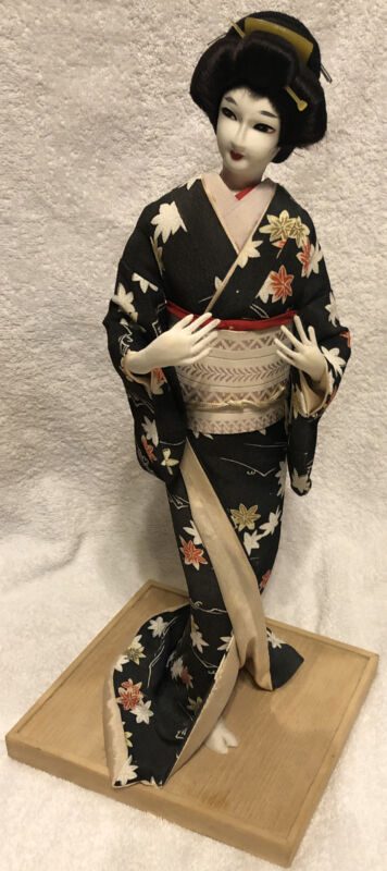 "Vintage NISHI & Co. LTD Made in Japan Geisha Doll 18"" Tall EUC"