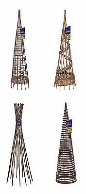 Gardman Willow Garden Obelisks - Plant Support Frame Columns