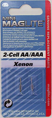 2 Aaa Xenon Lamp - New Maglite LM2A001  Xenon 2 - cell AA / AAA Mini Bulb Replacement Lamp Genuine