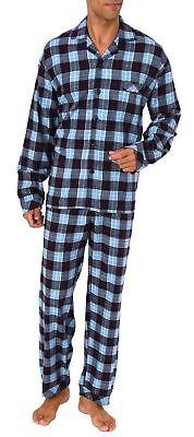 Herren Flanell Pyjama Schlafanzug zum durchknöpfen - 281 101 95 651 ()