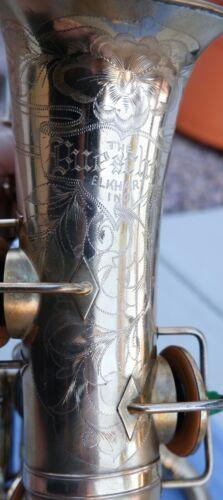 Buescher True Tone Gold Plated Eb Alto Saxophone-Great Engraving!