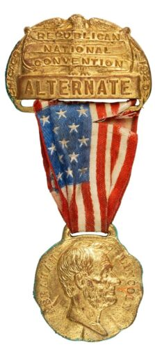 1920 Republican National Convention - Abraham Lincoln - Alternate Badge Pin