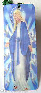 VIRGIN-MARY-DESIGN-3D-HOLOGRAPHIC-BOOKMARK-WITH-SILK-TASSEL
