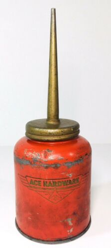 Oiler Oil Can Eagle Ace Hardware Airplane Red Vintage Automotive USA