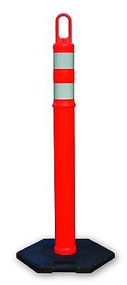 Traffic Cones 48 Delineator Cones Posts Tubes Box Of 4 Posts With 12lb Bases