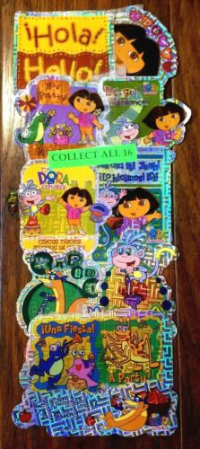 Dora the Explorer full set of 16 stickers / decals vending - New (Nick Jr fans)