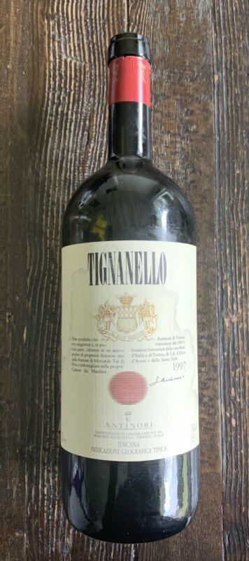 Tignanello Wine Bottle Empty 1.5L Collectible 1997 Toscana Italy