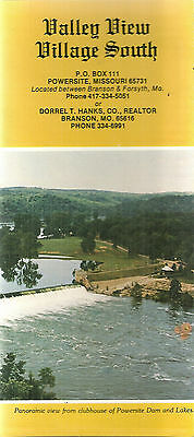 Brochure for Valley View Village South Powersite Missouri Lake Bull Shoals
