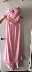 Mermaid pink gown