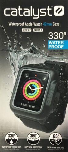 Genuine Catalyst Waterproof Case for 42mm Apple Watch Series 3 Stealth Black UD