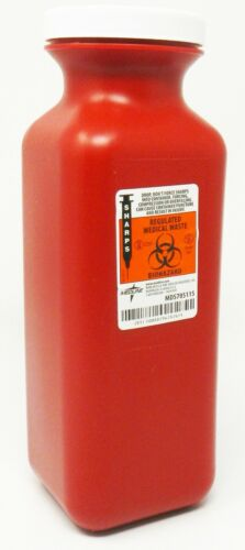 Medline MDS705115 1.5 Quart Sharps Containers QTY 25
