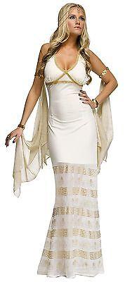 Damen Sexy Lang Griechische Römische Göttin Aphrodite Venus Kostüm Kleid Outfit ()
