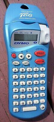 Dymo Letratag N10926 Handheld Label Maker Electronic Organizer Printer 12 Blue