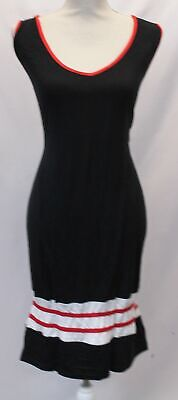 Boohoo Women's Plus Cindy Sports Trim Midi Dress LL1 Black Size US:18 (Uk Sports Apparel)