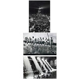 Set of 3 Vintage Reproduction Large 35x23inch Poster Prints of New York City