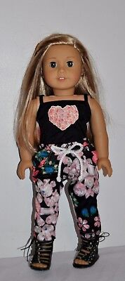 AMERICAN MADE DOLL CLOTHES FOR AMERICAN GIRL DOLL- FLOWER CAPRI SET