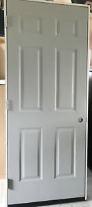 6 Panel Steel Utility Prehung Door