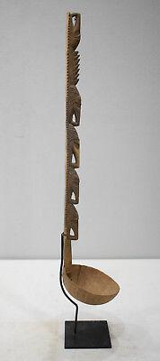 Papua New Guinea Ladle/Dipper Ceremonial Carved Wood Ladle