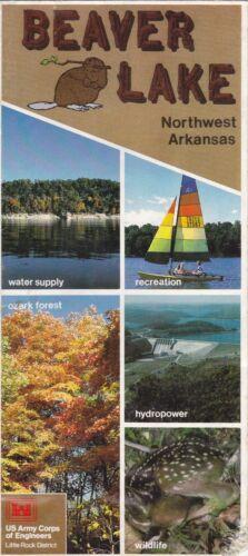 c1980 Beaver Lake Arkansas Promotional Map Brochure