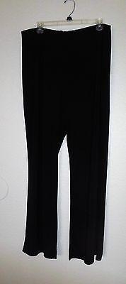 ELLEN TRACY WOMEN'S BLACK ELASTIC WAIST STRETCH PANTS SIZE XL