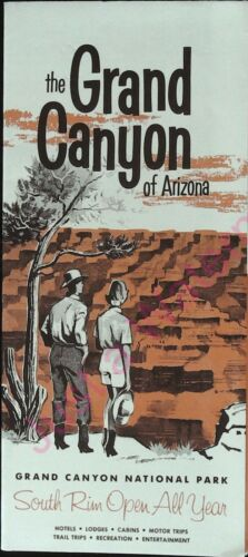 Vintage Brochure The Grand Canyon of Arizona National Park South Rim Open