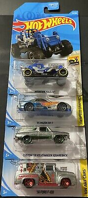 Hot Wheels Walmart Zamac Lot Of 4 Volkswagen, Mountain, Ford, & Mazda